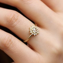 2019 New 14k Gold Mosang Diamond Ring Female 2 Carat Full Diamond Proposal Ring Full Stars Ring Band Jewelry(China)