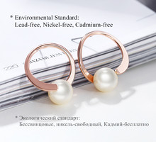 Gold/Rose Gold Color Circle Stud Earrings for Women