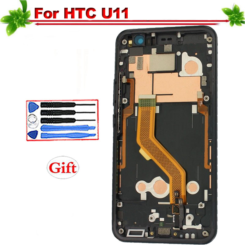 for HTC U11 U-3w U-1w U-3u LCD Display Touch Screen Digitizer Assembly Replacement for HTC U11 LCD With Frame Blackfor HTC U11 U-3w U-1w U-3u LCD Display Touch Screen Digitizer Assembly Replacement for HTC U11 LCD With Frame Black