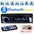 En El Tablero 1 DIN 12 V Coche sintonizador Estéreo bluetooth FM Radio MP3 Reproductor de Audio USB/SD MMC Puerto Coche sintonizador de radio bluetooth Puerto ISO