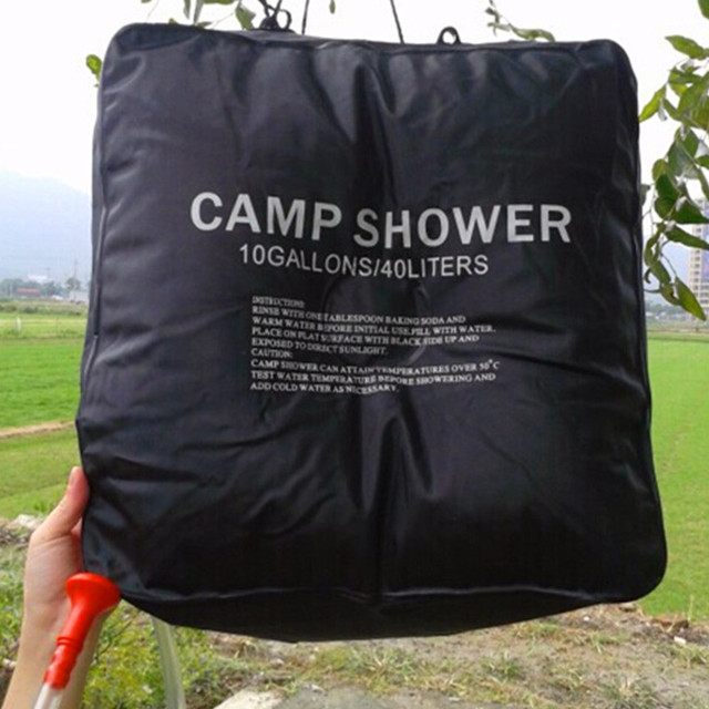 Camping Shower 40 L Portable Outdoor Hiking Pvc Solar Energy Heated Camp Bag
