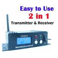 2 4G Wireless DMX 512 Controller Transmitter Receiver 2in1 LCD Display Power Adjustable Repeater Lighting Controller