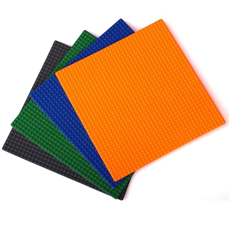 40pcs lot 27x27CM 34x34 dots large font b block b font building baseplate plate ground plastic
