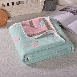 Детское стеганое одеяло весна-лето 2019, новое крутое моющееся стеганое одеяло с двойным принтом, 110*110 см, 100% хлопок