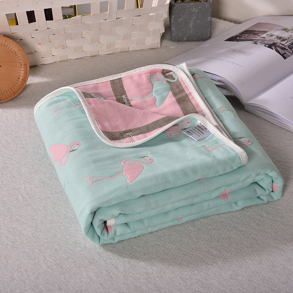 Spring And Summer Baby Quilt 2019 New Double Printed Cool Washable Single Air-conditioned Quilt 110*110cm 100% Cotton