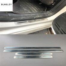 4 шт./лот, автомобильные наклейки для Alfa Romeo- Giulia/- Giulietta, ультратонкая Накладка на пороги из нержавеющей стали