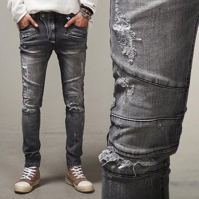 Aliexpress.com : Buy 2016 LetsKeep Spring Punk Biker Jeans Men ...