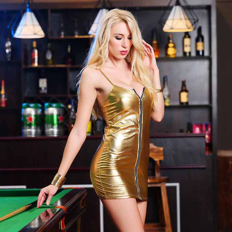 HTB1jyQVaELrK1Rjy1zbq6AenFXaO 4XL Ladies Sexy Club Party Sheath Dress Sleeveless Spaghetti Strap Low-cut Dress Women's Clothing Front Zipper Mini Vestidos