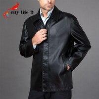 Plus size 3xl genuine leather jacket men s clothing sheepskin 2015 autumn leather coat male turn.jpg 200x200
