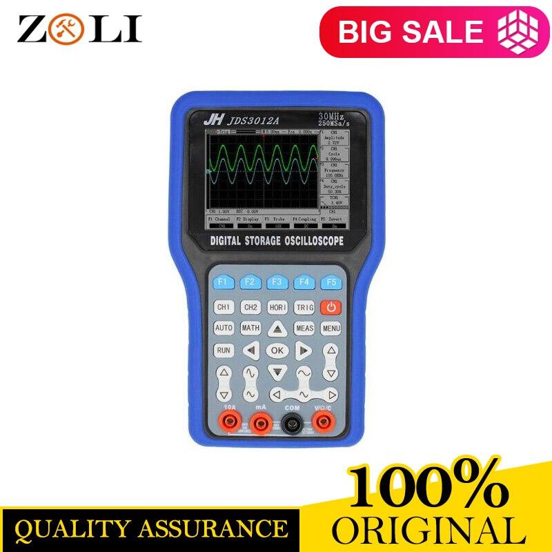 Handheld Digital JDS3012A Storage Oscilloscope Multimeter Jinhan JDS3012 30MHz Signal Generator Data Recorder 250MS s