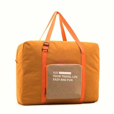 Мужские дорожные сумки, водонепроницаемая нейлоновая складная сумка для ноутбука, вместительная сумка для багажа, дорожные сумки, портативные женские сумки - Цвет: orange 2