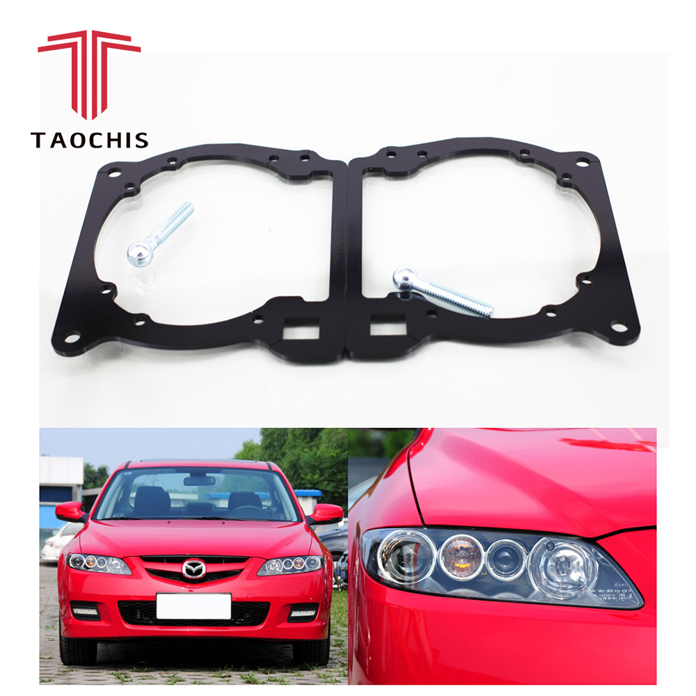 Taochis Car-Styling frame adapter module DIY Bracket Holder for Mazda 6 Hella 3 5 Q5 Projector lens
