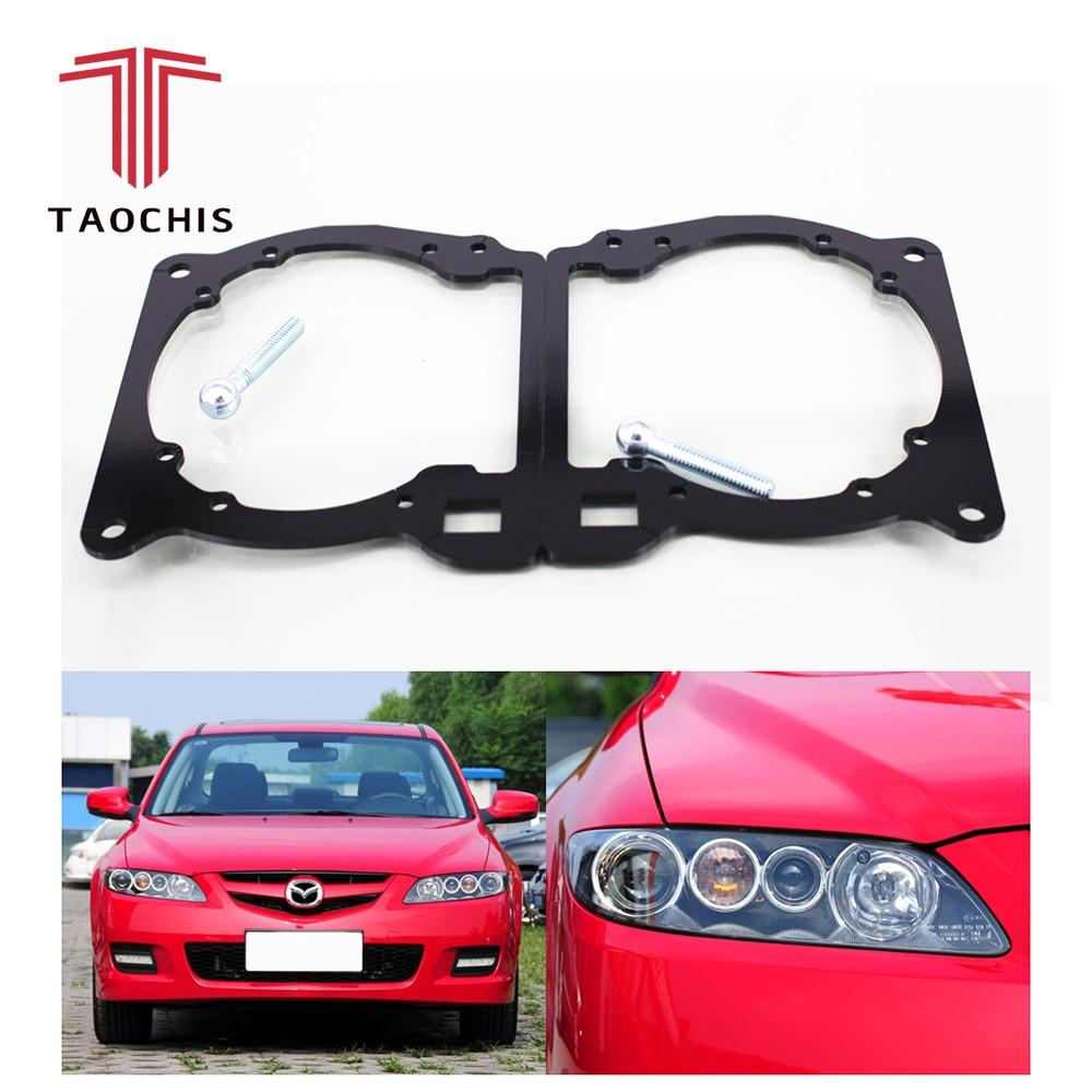 Taochis Car-Styling frame adapter module DIY Bracket Holder for Mazda 6 Hella 3 5 Q5 Projector lens