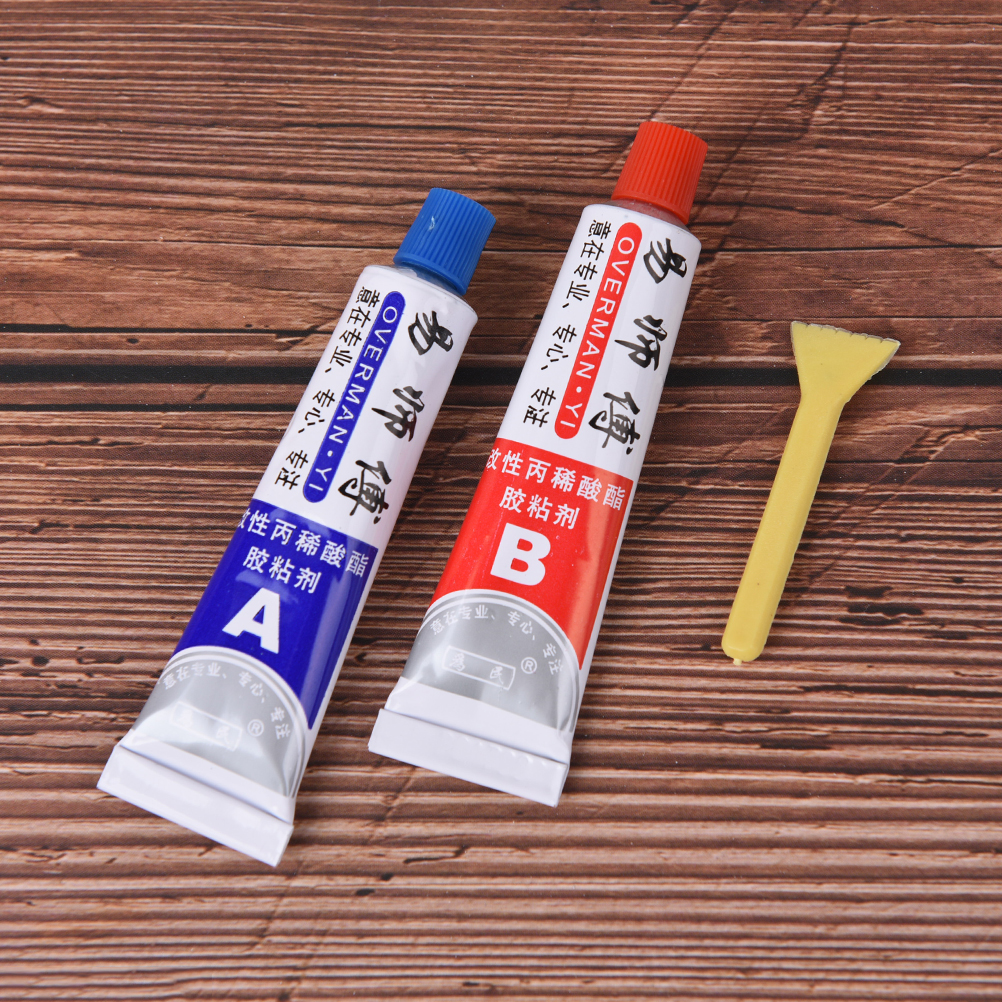 High Quality 2pcs(A+B) Modified Acrylic Glue Adhesive for Metal Plastic Wood Crystal Glass Jewellery Superior Strength Kafuter