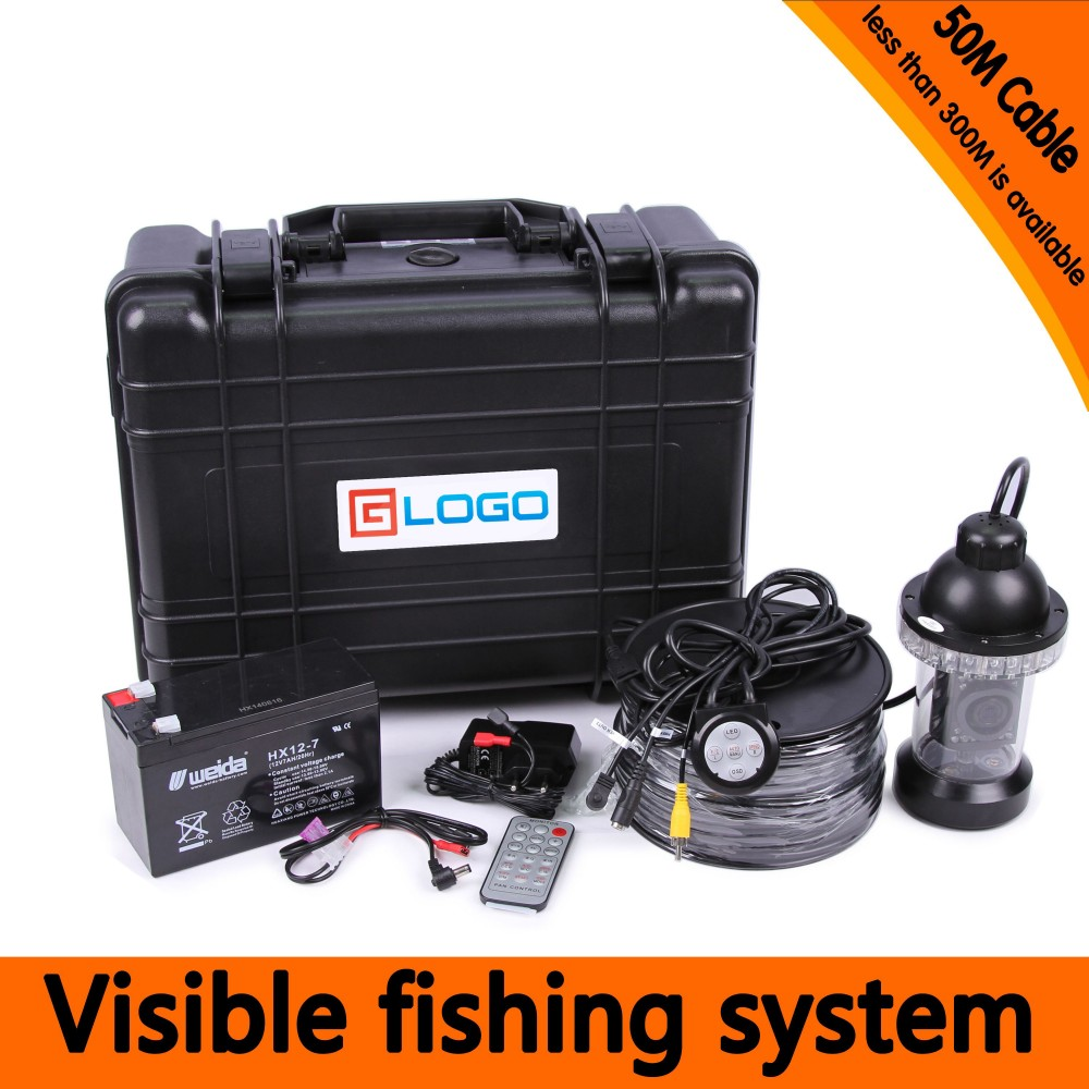 Underwater Fishing Camera Kit with 50Meters Depth 360 Panning Rotative Camera & 7Inch TFT LCD Monitor & Hard Plastics CaseUnderwater Fishing Camera Kit with 50Meters Depth 360 Panning Rotative Camera & 7Inch TFT LCD Monitor & Hard Plastics Case