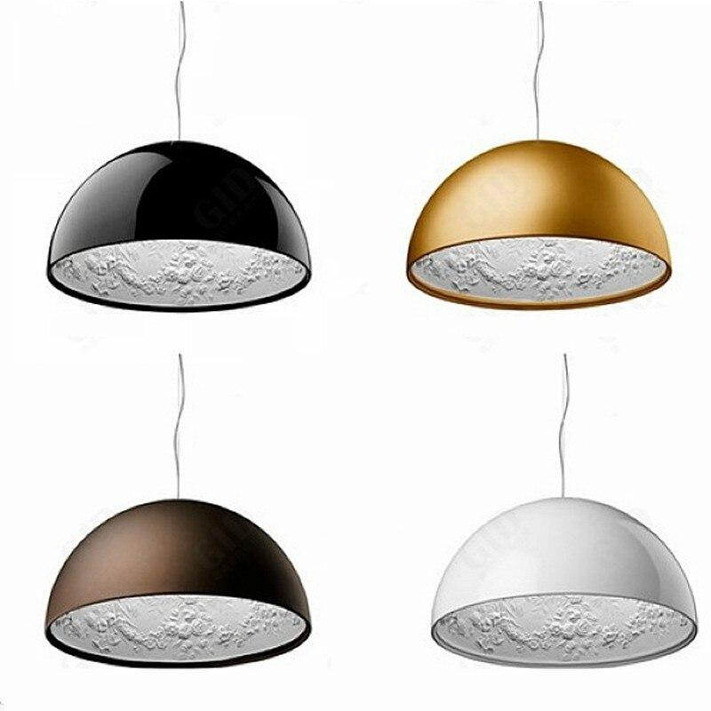 Moderne noir blanc or brun résine ciel jardin pendentif LED lumières salle à manger chambre suspension lampe luminaires suspendus