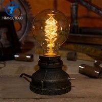 Bàn retro đèn Mờ ánh sáng ban đêm bóng đèn Edison nước Mỹ món quà sáng tạo Bar Cafe nước công nghiệp đèn bàn luminaria