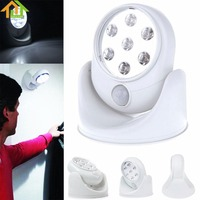 Motion Activated Cordless Sensor 7 LED Light Indoor Outdoor Garden Wall Patio Shed