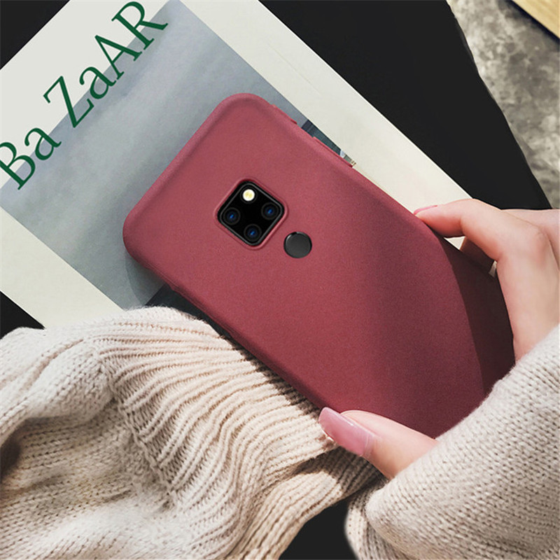 Ultra Thin Scrub Cover Phone Cases For Huawei P8 P10 P20 P30 Pro Lite 2017 Nova 4 3 3e 3i 2S Mate 20 10 Lite Pro Solf Silicone in Fitted Cases from Cellphones Telecommunications