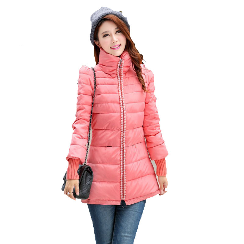 Beads Jacket campera pluma mujer Solid Color abrigos y