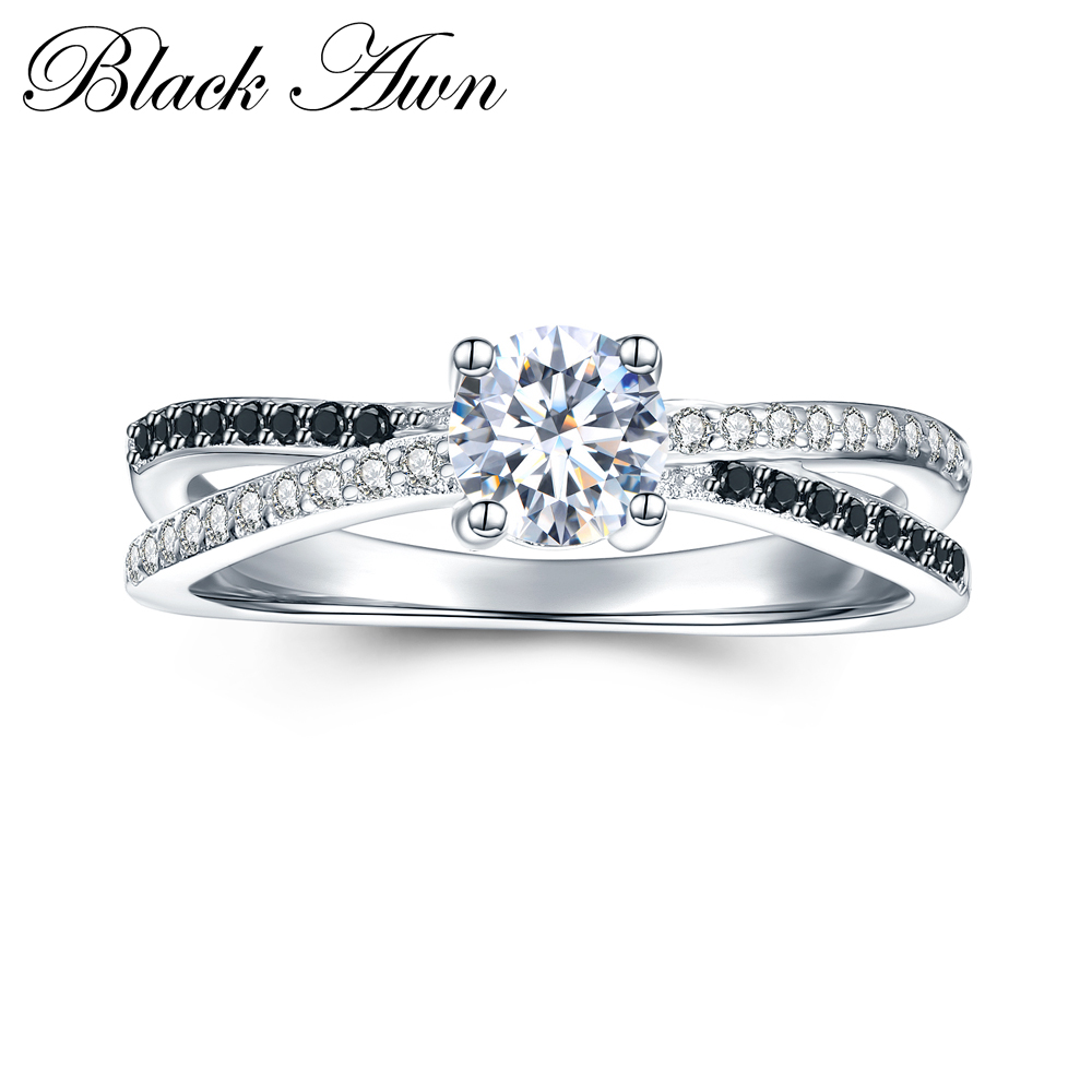 2.2g  Classic 925 Sterling Silver Jewelry Trendy Wedding Rings For Women Engagement Ring Femme Bijoux Bague C009
