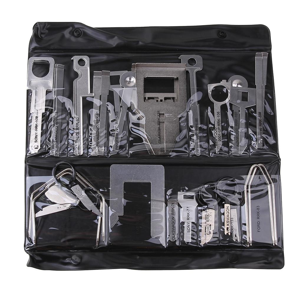 38pcs strumenti di rimozione di rilascio di autoradio stereo per auto - Set di attrezzi - Fotografia 1