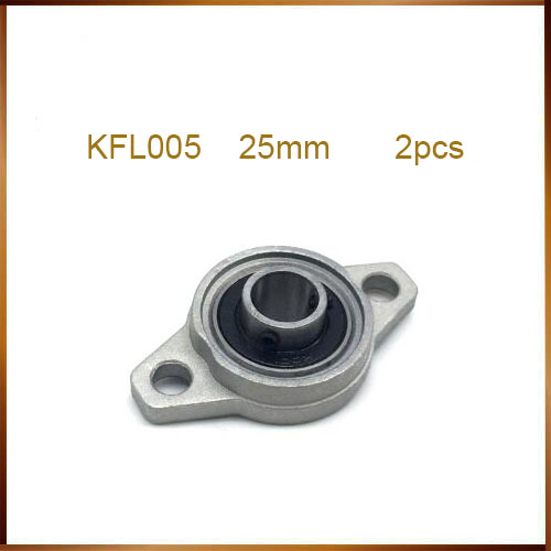 US Stock 25mm KFL005 Pillow Block Bearing FL005 Flange Block Bearing