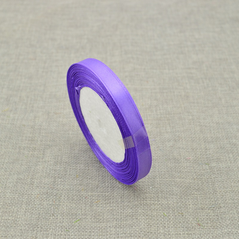 10 мм, 25 ярдов, шелковая атласная лента для свадебного автомобиля, ручная работа, Подарочная коробка для конфет, материалы для украшения, рождественские ленты - Цвет: purple