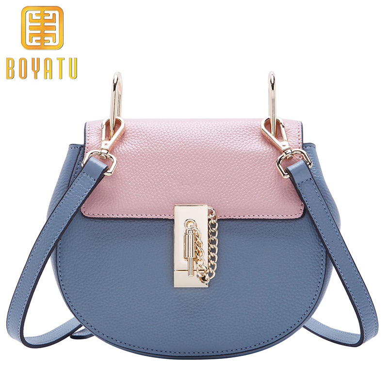 Luxury Brand Women Chain Messenger Bags Leather Shoulder Bag Clutch Purse Famous Designer Locks Crossbody Bags Sac A Main luxury brand women chain handbag patchwork leather handbag clutch purse famous designer crossbody bags sac a main louis gg bag