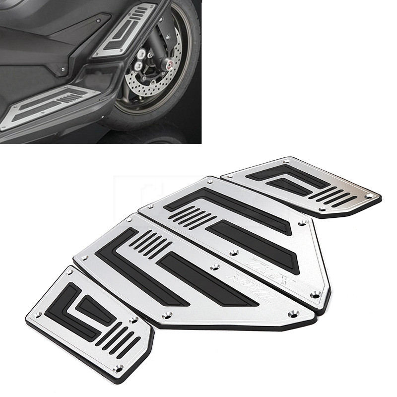 Motorcycle Footboard Steps Pedal Foot Pegs Plate Cover Accessories For Yamaha TMAX 530 2012 2013 2014 - 2016 T MAX 530 TMAX530 cnc motorbike kickstand foot side stand extension pad support plate for yamaha t max tmax 530 2012 2013 2014 2015