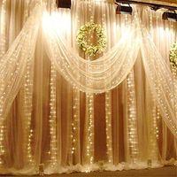 6 M x 3 M 600 LED Cascada Cortina de la Secuencia de Hadas de Navidad Al Aire Libre Luz Hoteles Boda Del Acontecimiento Del Partido Etapa del Hotel Club de jardinería Suministros