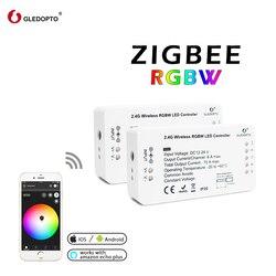 Zigbee Zll collegamento intelligente luce di striscia di rgb/rgbw controller DC12V/24 V zigbee rgb APP di controllo compatibile con ECHO Smartthings Led rgb