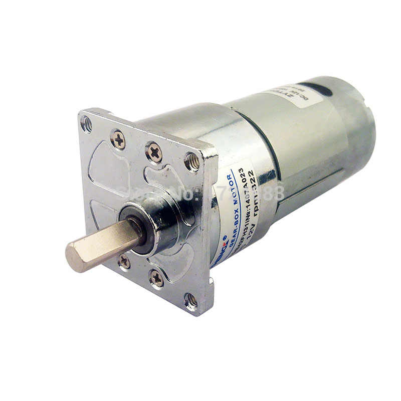 ZGB42FH DC 12V 24V 42mm 15/19/60/120/150/322RPM Square Gear motor Large torque ECCenter shaft