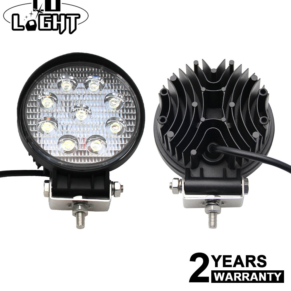 CO LIGHT 4.3Inch 27W 5D LED Work Light Flood Spot Beam Auto Driving Lamp LED Light Bar for Truck Jeep ATV Offroad Boat 4X4 4WD