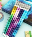 8pcs/Lot  180mm Chopsticks design Romatic Space Walk Diamonds head series 0.38mm gel pen Stationery pen