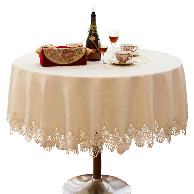 Attirant 2018 Luxury Lace Round Table Cloth Cotton Linen Embroidered Table Covers  Home Textile Wedding Table Linen
