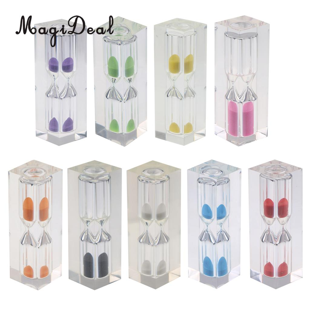 MagiDeal 3 Minutes Clear Acrylic Hourglass Sandglass Sand Timer Kitchen Clock for Kitchen Cooking Games Playing