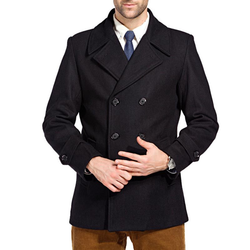 Online Get Cheap Mens Black Pea Coat -Aliexpress.com | Alibaba Group