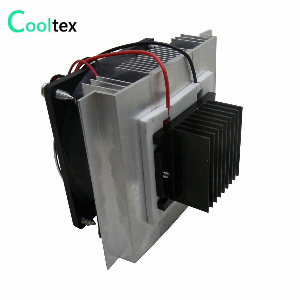 DIY Thermoelectric Cooler Cooling system semiconductor refrigeration system kit heatsink Peltier cooler radiator fans cooling thermoelectric peltier refrigeration cooling cooler fan system heatsink kit