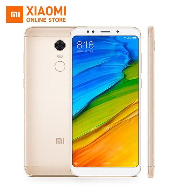 Original Xiaomi Redmi 5 plus Cellphone Redmi5 Plus 18:9 Screen Display 4GB 64GB Snapdragon 625 Octa Core 4000mAh Battery MIUI 9