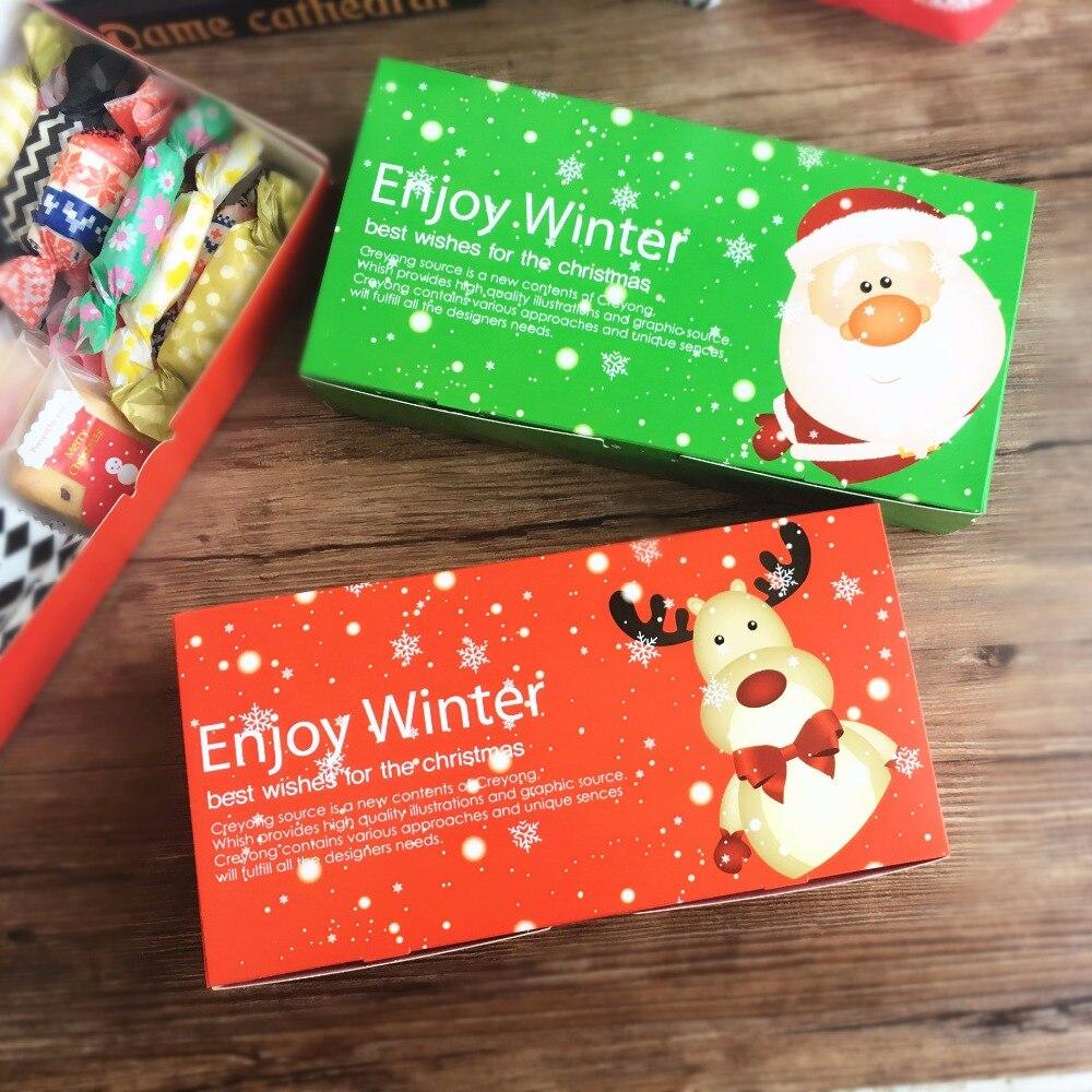 Christmas Gift Packing: 20PCS Cute Christmas Gift Box Candy Packaging Box Macaron
