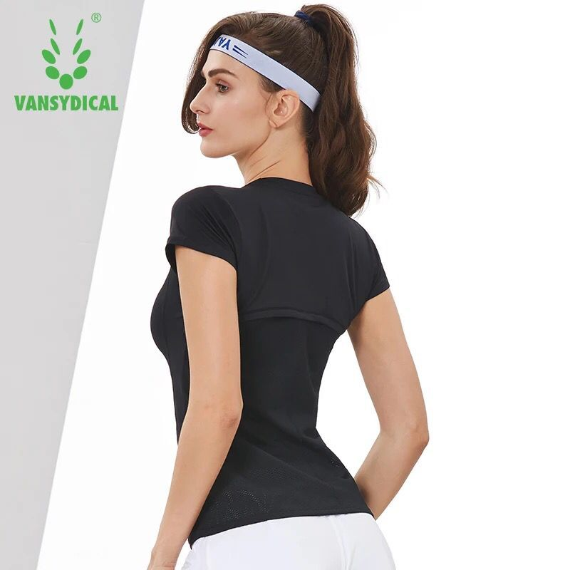 Women Yoga Shirts Short Sleeve Sport Tops Breathable Training Running T Shirt Slim Fitness Tights Gym Jogging Workout Clothing
