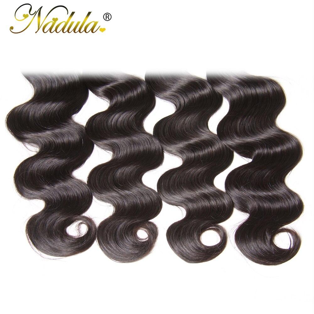 Nadula Hair 4 Bundles  Body Wave Hair 100%  s 8-30inch Natural Color  Hair s 5
