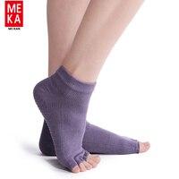 Women S Low Rise Half Toe Grip Non Slip For Ballet Yoga Pilates Barre Toe Socks