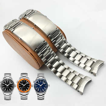MERJUST AAA Quality 316L 20mm 22mm Silver Stainless steel Watch Bands Strap For omega seamaster speedmaster planet ocean Belt - DISCOUNT ITEM  15% OFF All Category
