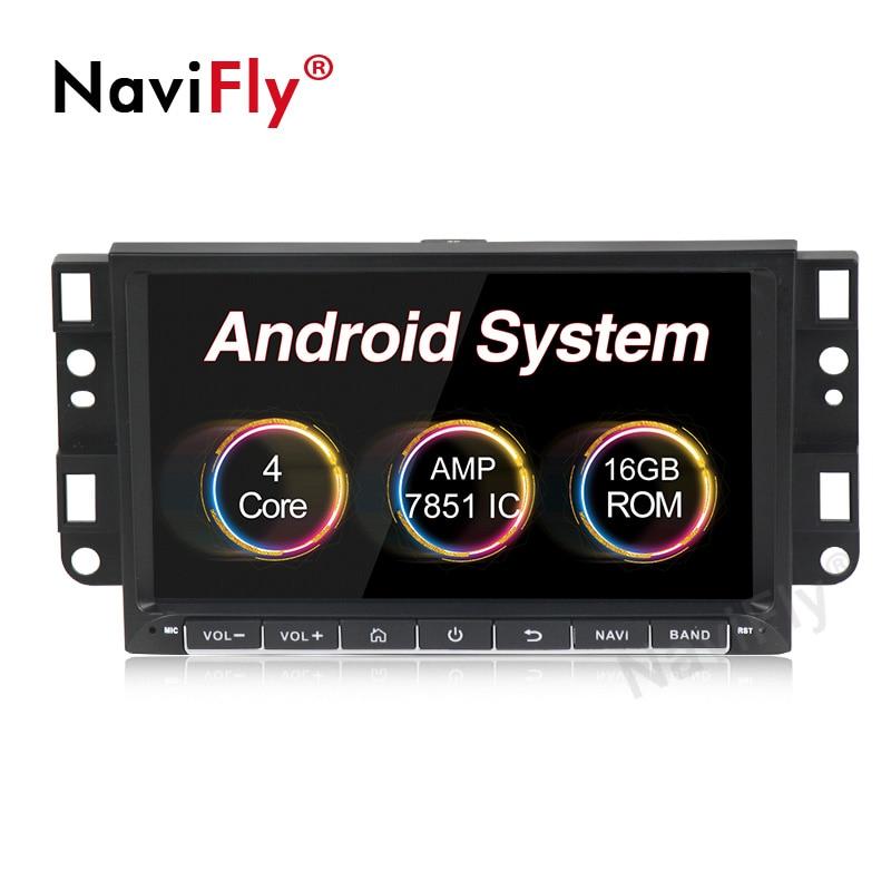 Lecteur Radio de voiture Navifly pour Chevrolet Aveo Epica Captiva Spark Optra Tosca Kalos Matiz Radio stéréo GPS Navigation HD 1024*600