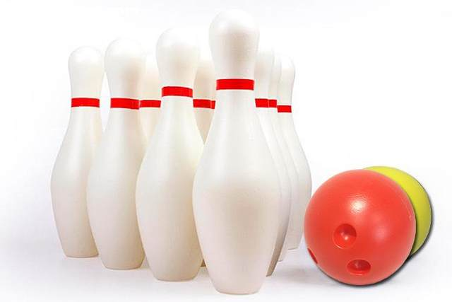 large size white color bowling bottle ball children toy sports outdoor - Bowling Pictures To Color