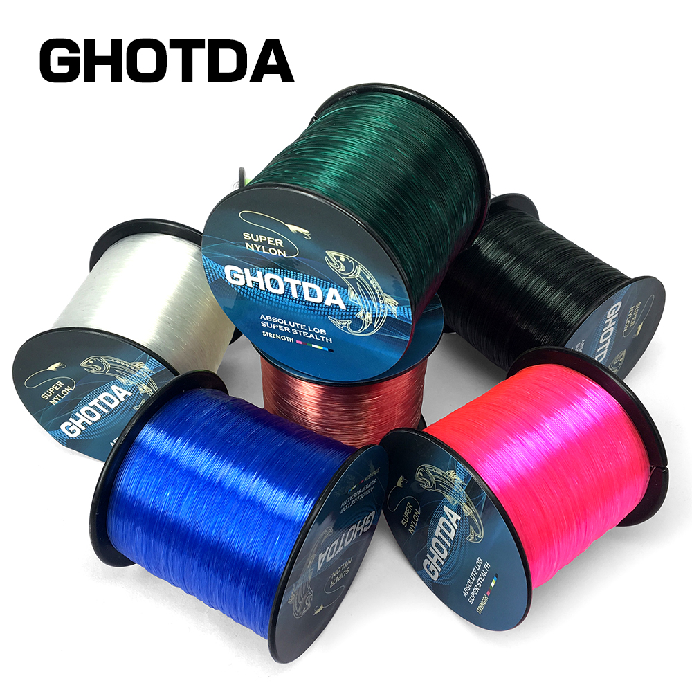 NEW Monofilament Nylon Fishing Line 1000M 4LB-28 LB Japan Material Super Strong Jig Carp Winter Fish Line Rope Wire Tackle