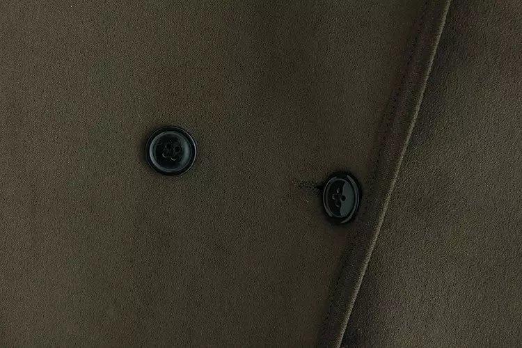 G4 Trench Donna Tuta Abbigliamento Più Velluto Tessuto Casuale V362 Di Plus Autunno Size Dell'esercito Sportiva 4xl Inverno Scamosciato Cappotti Verde AxqY1AXwr