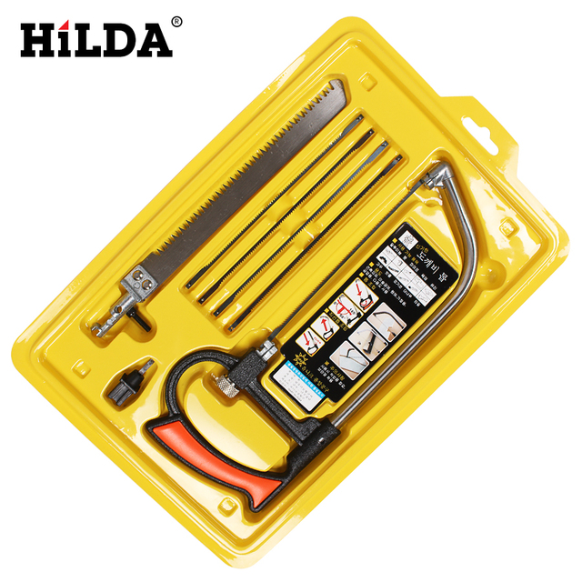 HIILDA Hand Tool Bow Hand Saw Multifunctional Detachable Portable Hacksaw Set For Gardening Woodworking Construction Arts Crafts